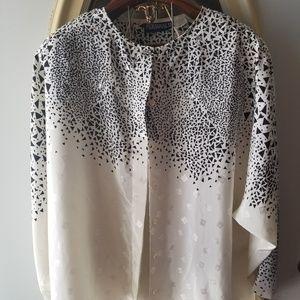 Vintage unique button up blouse